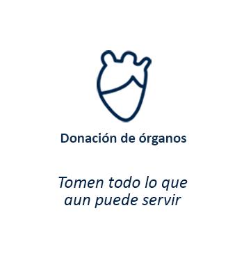Donación de órganos - Tomen todo lo que aun puede servir